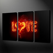 Love Flame Abstract Canvas Wall Art Pictures Prints Free Uk Pandp Variety Of Sizes