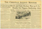 Japanese Pearl Harbor Germany And Italy Declare War On Usa Dec 10 1941 B37