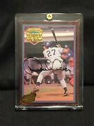 1995 Derek Jeter 24kt Gold Action Packed Auto Minor League Player Of The Year