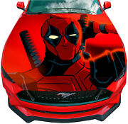 Vinyl Decal Deadpool Car Wrap Hood Full Color Top Graphics Comics Custom Sticker