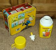 Snoopy-riffic Rare Vintage 1965 Thermos Brand Peanuts Lunch Box C-6 Complete