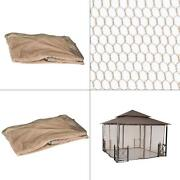 Replacement Netting For 12 Ft. X 12 Ft. Harbor Gazebo | Mesh Imported Outdoor