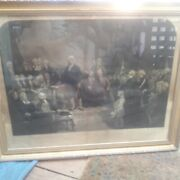 Antique H.s.sadd 1849 And039washington Delivering His Inauguration Addressand039 1789