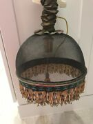 Mackenzie Childs Rare And Discontinued Mesh Hanging Light Look