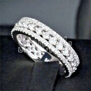 Christmas 2.26ct Natural Round Diamond 14k Solid White Gold Band Ring