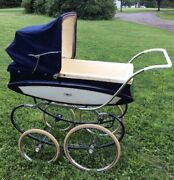 Vintage Prop 1940andrsquos Pedigree Pram Buggy Carriage Stroller Converts 2 Cradle Gift
