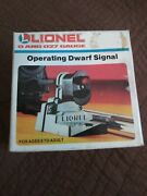 Lionel 6-2115 Operating Dwarf Signal New Old Stock 0 And 027 Gauge