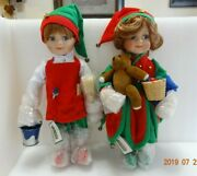 Porcelain Holiday Dolls Santas Liland039 Helpers By Heritage Signature Collection 15
