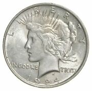 1 Au 1 1924 Peace Silver Dollars Dripping W Luster Almost Unc 90 Bulk And Save