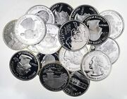 40 Proof 90 Silver State Quarter 10 Face Roll Bullion Junk Collection
