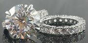 925 Sterling Silver Ring 5ct White Round Studded All Handmade Cz New -andagrave La Carte