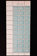 Israel Stamps 8 Revenue Nh Partial Sheet Of 30 W/ Plate Number Catalog 1500
