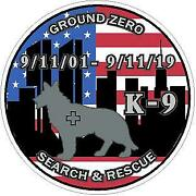 9/11 Never Forget, Ground Zero Sept 2001 Vinyl Decal Sticker. Search And Rescue