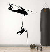 Vinyl Wall Decal Chopper Military Aviation Soldier Military Stickers G1208
