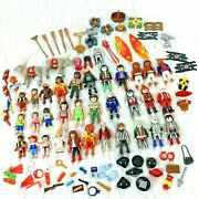 Playmobil Lot Pirates Camping Christmas Police 111 Pieces Assorted Sets People
