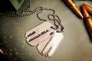 Wolverine Xo Wwii Military Dog Tags - Notched Us Tags From Wwii And Korean War