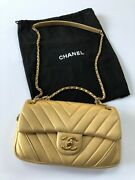 Cleveron Gold Leather Bag Briefly Used 1-2 Times W/ Dust Cover And Card.