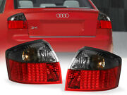 Error Free Red/smoke Led Plug And Play Tail Light For 02-05 Audi A4/s4 B6 Chassis