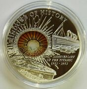 Cook Islands 2012 10 Windows Of History Rms Titanic 50 G Silver Coin