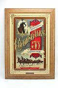 Budweiser Limited Ed 1225 Famous Clydesdale 50th Anniversary Beer Mirror Sign