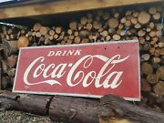 1940s Drink Coca Cola Sign Marked Sw1