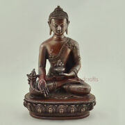 Hand Made Lost Wax Method Copper Alloy Medicine Buddha Statue From Nepal