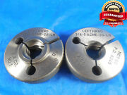 3/4 5 Acme 2g Left Hand Thread Ring Gages .75 Go No Go Pds .6431 And .6245 L.h.