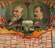 1884 Electoral Vote Ohio Map Buckeye Plow Aultman Miller And Co 7h