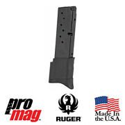 Promag Rug17 Extended 10 Rd 9mm Steel Clip Magazine For Ruger Ec9 Ec9s Lc9 Lc9s