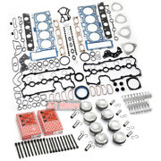 Engine Cylinder Pistons Gasket Bearing Shell Overhaul Kit For Vw Audi A6 A8 4.2l