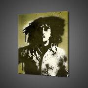 Bob Marley Stencil Canvas Print Picture Wall Art Home Decor Free Fast Delivery