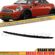 Front Bumper Lower Grille Trim For Mini Cooper 11-15 Glossy Black Moulding Abs