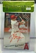 Mike Trout 2017 Topps Now Red Ink Autograph Auto 'd 72/99 - Bgs 9.5 / 10 Gem Mt