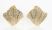 2.91ct Natural Round Diamond 14k Solid Yellow Gold Screw Back Stud Earring