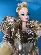 Rare Barbie Gold Jubilee Prototype Sample Doll With Sample Sticker On Box