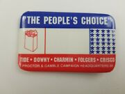 Proctor And Gamble Advertising Pin Tide Downy Charmin Folgers Crisco 88 Election