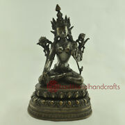 Hand Made Lost Wax Method Oxidized Copper Alloy With White Tara Statue Frm Nepal