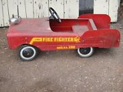 Collectors Vintage 60s Amf Fire Fighter 508 Pedal Cars