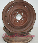 1956-1957 Corvette Rims Riveted And Notched