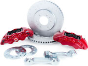 Alcon For 2010+ Ford F-150 347x36mm Rotors 6-piston Red Front Brake Kit Require