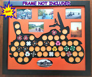 50 Poker Chip Display Frame Insert Fits Harley Davidson/casino Chips And Photos