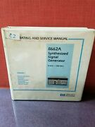 Hp/agilent 8662a Synthesized Signal Generator Operating And Service Manual 3880