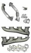 Ppe High Flow Exhaust Manifolds And Up Pipes For 2001-2004 6.6l Lb7 Duramax Diesel