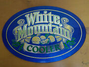 White Mountain Cooler 1985 Used Bar Beer Mirror Small 11 X 16 Man Cave Sign D6