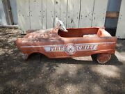 Collectors Vintage 50s Murray Fire Cheif Pedal Cars