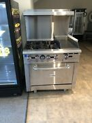 New 4 Burner Range With 12 Griddle And Oven