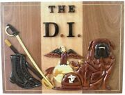 Marine Corps Drill Instructor - The D.i. - Handcrafted Wood Art Military Plaque