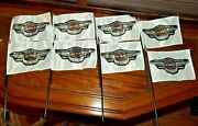 Lot Of 8 Harley Davidson 95 Years Of Great Motorcycles Miniature Flags