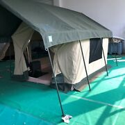 Waterproof Canvas Safari Glamping Camping Wall Bell Tent W/ Chimney Vent /awning