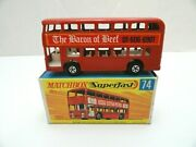 Matchbox Lesney Superfast Mb74 Daimler Bus - Baron Of Beef Labels Mint In Box